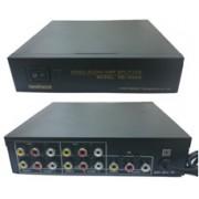1AV In, 4 AV Out Video+Audio Distributor w/Amplifier